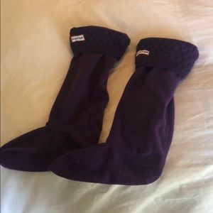HUNTER Cable Stitch Boot Sock